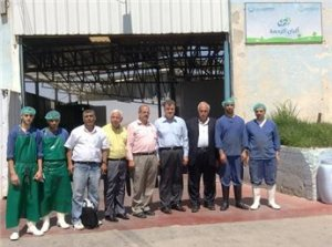 Palestinian factory workers: their dairy products are very threatening!