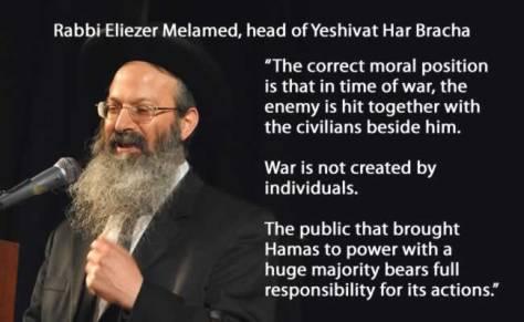rabbi eliezer Melamed- civilians fault