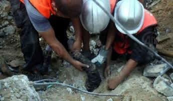 rescuers find an arm