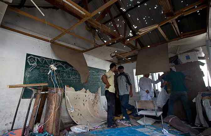 UN school in Jabiliya attacked 30 July