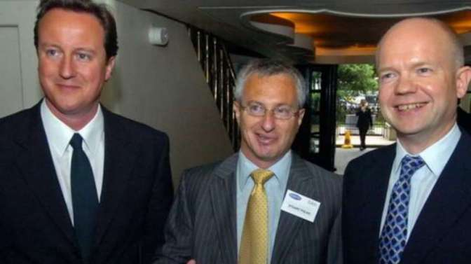 Cameron and Hague with Polak of CFI