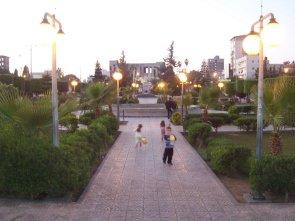 Public park with children