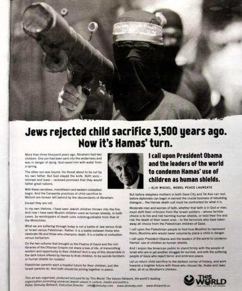 Sick Jewish advert blaming their victims
