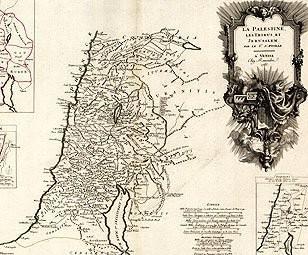 1750 Map of Palestine