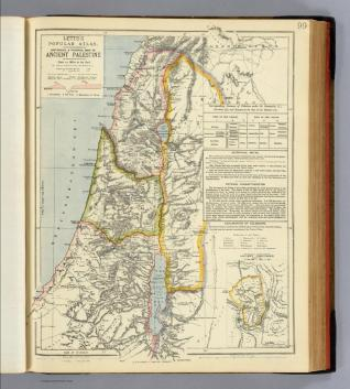 Lett's popular atlas - ancient Palestine