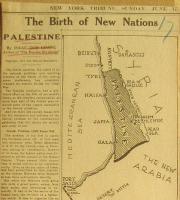 Map in NY Tribune 1917 of Palestine