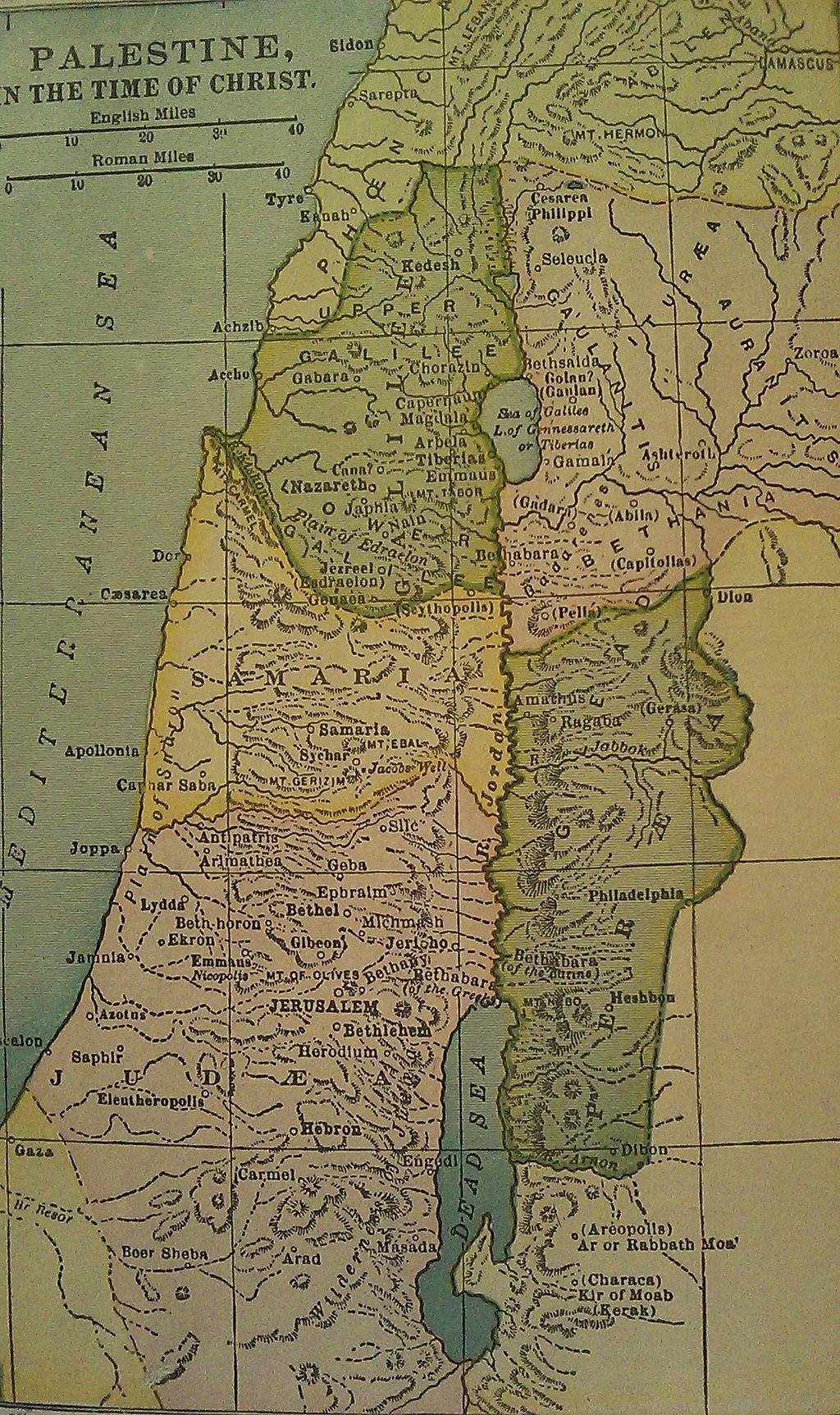 Map Palestine Christ S Time