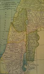 Map of Palestine at time of Christ