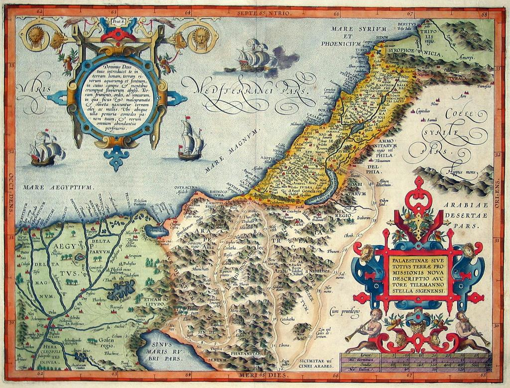 Historical maps of palestine cintayati 1570 french map of palestine gumiabroncs Gallery