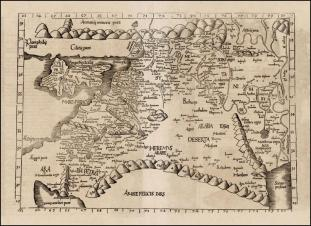 Roman map of Palestine